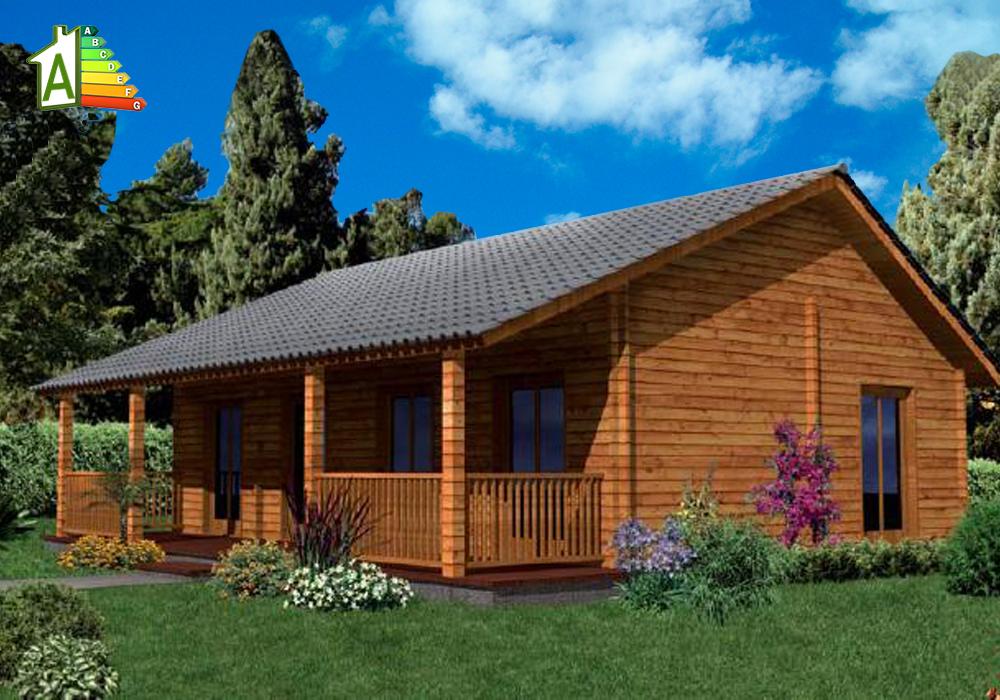 Casa de madera eco 60 ecocasa - Casas prefabricada de madera ...